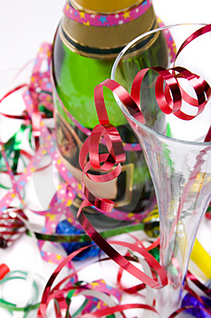 Bright and colorful party scene Free Stock Photo