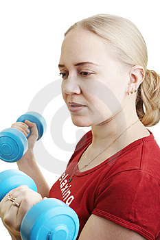 Young woman in the gym Stock Photos