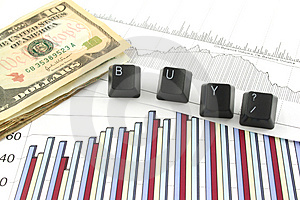 Business Charts with BUY? Free Stock Photo