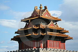 Corner Tower Of The Forbidden City In Beijing Royalty Free Stock Photos - Image: 16200008