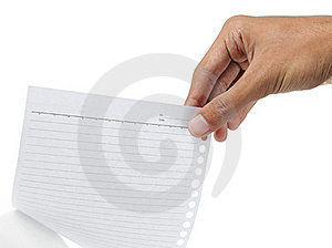 Hands Picking A Paper Free Stock Photography