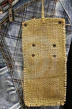 Close-up Of Cotton Jeans Royalty Free Stock Photography - Image: 16201767