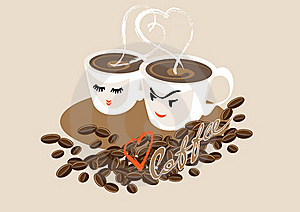 Two Cups Of Coffee Royalty Free Stock Image - Image: 16201816
