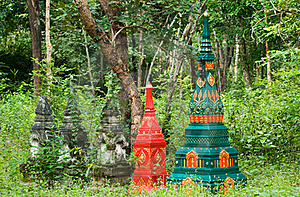 Tombstones In Rural Thailand Royalty Free Stock Photos - Image: 16202168