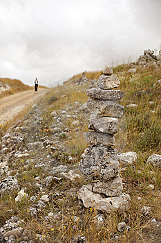Pilgrims On The Road To Santiago Stock Photography - Image: 16206662
