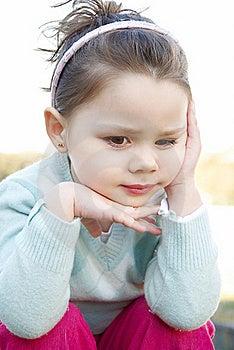 Thinking Girl Royalty Free Stock Photography - Image: 16207597