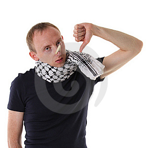 Flu Man Blowing Nose And Sign Thumbs Down Stock Image - Image: 16208121