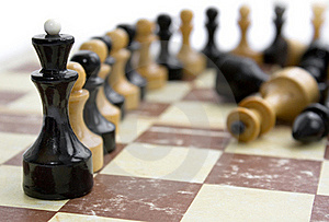 Old Chess On Paper Board Royalty Free Stock Photography - Image: 16208247