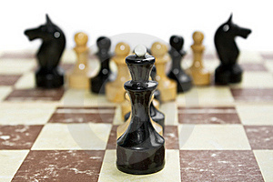 Old Chess On Paper Board Stock Image - Image: 16208261