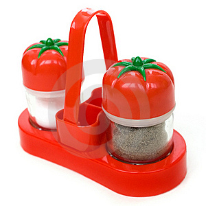Plastic Set Of Salt And Pepper Stock Photo - Image: 16208690