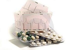Cardiogram And Pills Royalty Free Stock Photos - Image: 16209588