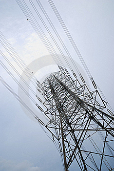 Electric High Voltage Post Stock Image - Image: 16209921