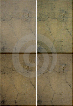 Natural Tones Cracked Plaster Wall Set Stock Images - Image: 16210424
