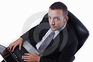 Successful Businessman With Laptop Stock Photography - Image: 16210782