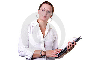 Woman With Documents Stock Image - Image: 16211171