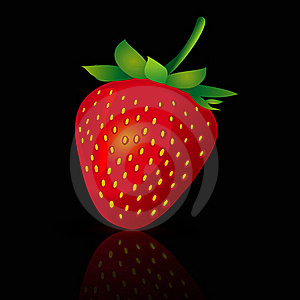 Falling Strawberries Stock Image - Image: 16213311