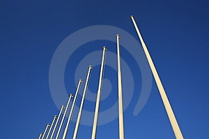 Olympic Flag Poles Royalty Free Stock Photography - Image: 16215257
