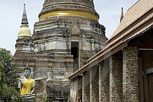 Wat Yai Chai Mong Kon. Stock Images - Image: 16217024