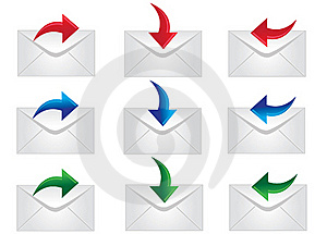 Mail Icons Royalty Free Stock Photo - Image: 16217205