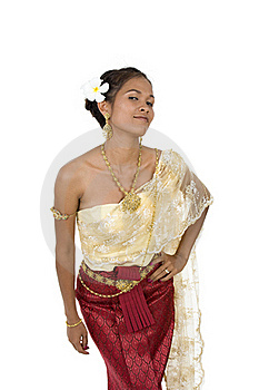 Thai Woman In Traditional Clothes Royalty Free Stock Photography - Image: 16217347