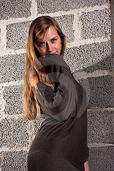 Woman And Wall Stock Photography - Image: 16217422