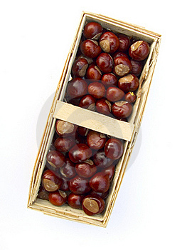 Chestnuts In A Basket Stock Images - Image: 16217474