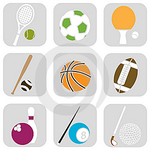 Sport Ball Icons Royalty Free Stock Images - Image: 16219289