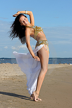 Graceful Woman In Exotic Dress Stock Photography - Image: 16219572