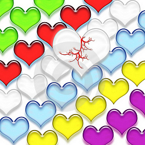 Multi-colored Hearts Stock Images - Image: 16220244
