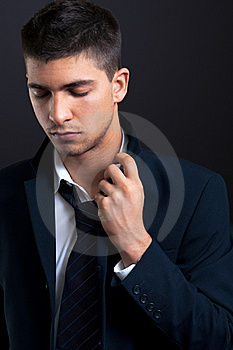 Man In Suit And Tie With Concern Stock Photos - Image: 16222293