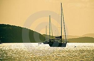 Sunset Sailing Stock Images - Image: 16222424