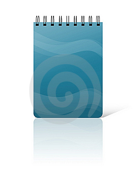 Blue Notebook Cover Royalty Free Stock Photo - Image: 16222665