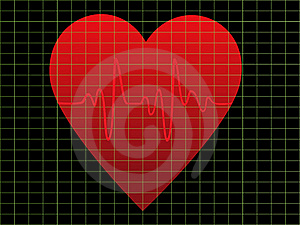 EKG Or Heart Monitor Royalty Free Stock Images - Image: 16223189