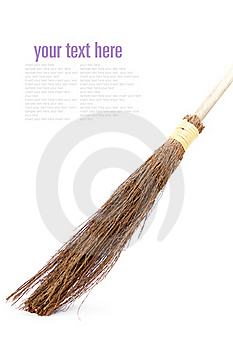 Witch Broomstick Royalty Free Stock Photos - Image: 16224758
