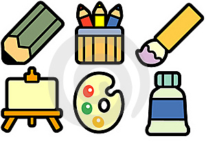 Painting Equipment Royalty Free Stock Images - Image: 16226579