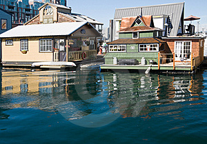Float Homes Or Marina Village Stock Photography - Image: 16226802