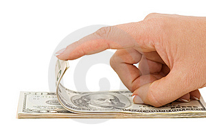 Hand Counting Money Isolated On White Background Stock Image - Image: 16226981