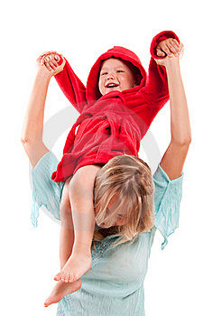 Happy Mother With Joyful Son Royalty Free Stock Photos - Image: 16228778