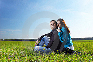 Young Man And His Girlfriend Stock Photo - Image: 16229360