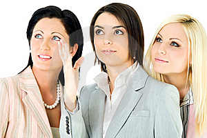 Team Businesswomen Looking Up Royalty Free Stock Photos - Image: 16229608