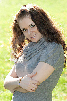 Woman Smiles Stock Image - Image: 16230021