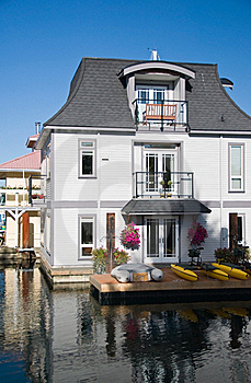 Float Homes Or Marina Village Royalty Free Stock Photo - Image: 16234035