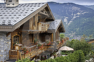 Detail Of The Village Of Le Praz Stock Image - Image: 16236131