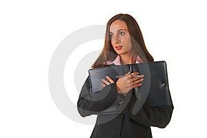 Beautiful Brunette Businesswoman Stock Photography - Image: 16236432