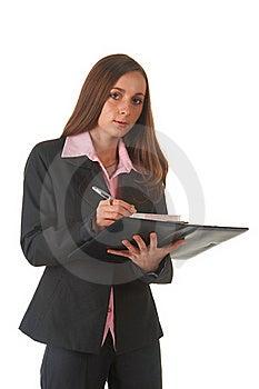Beautiful Brunette Businesswoman Royalty Free Stock Photo - Image: 16236435