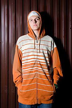 Teenage Gang Member At Night Royalty Free Stock Photography - Image: 16236917