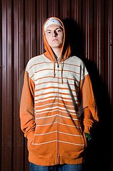 Teenage Gang Member At Night Royalty Free Stock Photography - Image: 16236917