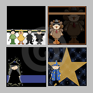 Children Halloween Backgrounds Royalty Free Stock Photos - Image: 16239328