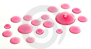 Pink Water Drop Background Royalty Free Stock Photo - Image: 16239415