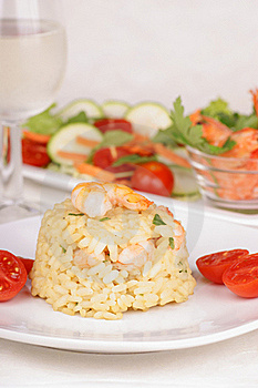 Risotto With Shrimps Stock Image - Image: 16240531